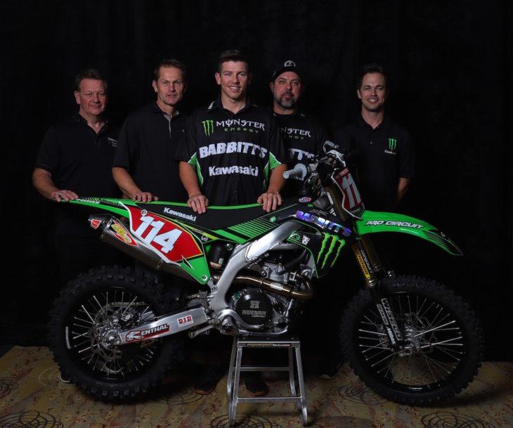 Josh Strang and the new Babbitts/Monster Energy/Kawasaki Team Green off-road team.