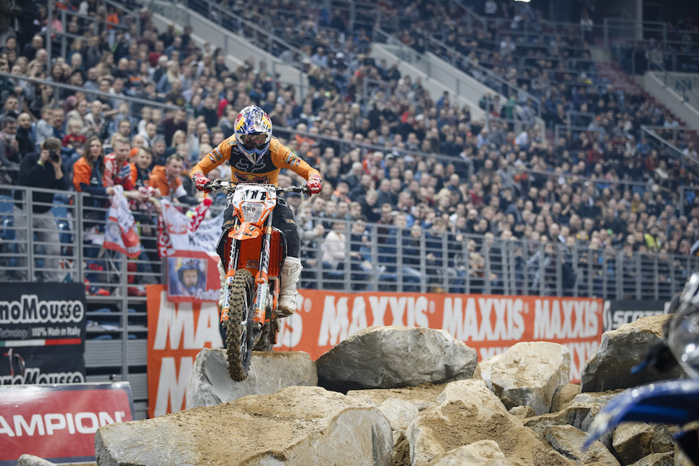 Taddy Blazusiak en route to the overall win at the Poland Superenduro opener.