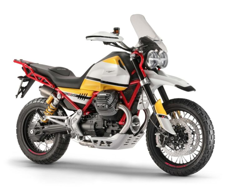 The Top 10 Street Bikes We Can't Wait to Ride in 2019 Moto Guzzi V85 TT right side