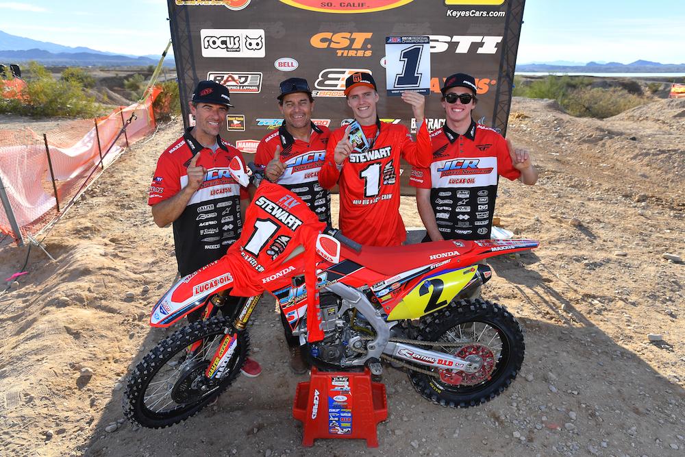Trevor Stewart and JCR Honda win the 2018 AMA District 37 Big 6 Grand Prix/WCGP Championship