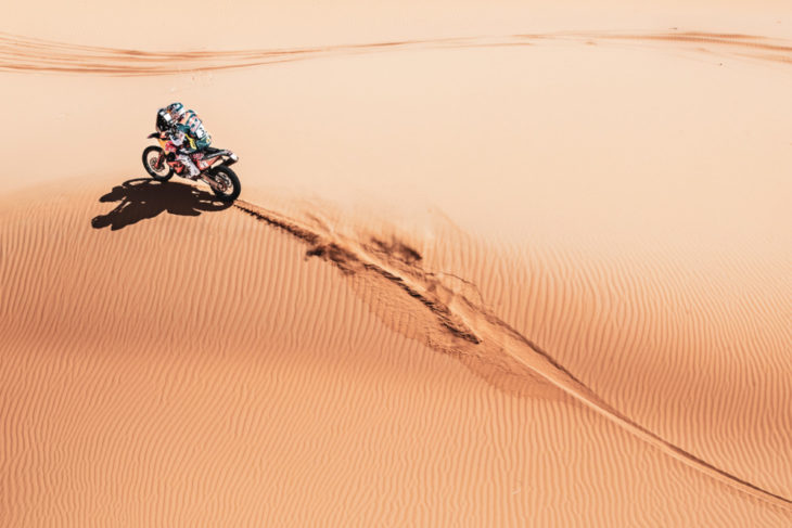 Up Front With The KTM Rally Team Walkner sand
