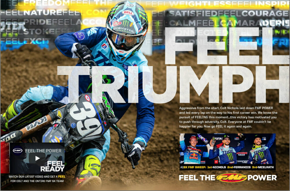 FMF Racing Cycle News Advertisement