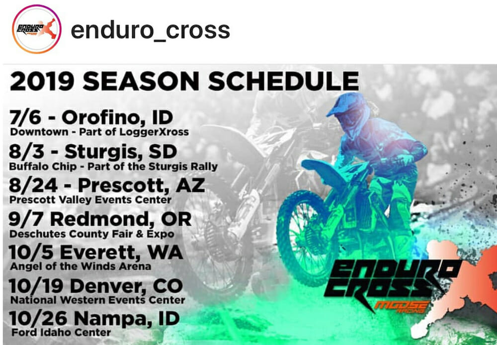 2019 AMA EnduroCross Championship announced