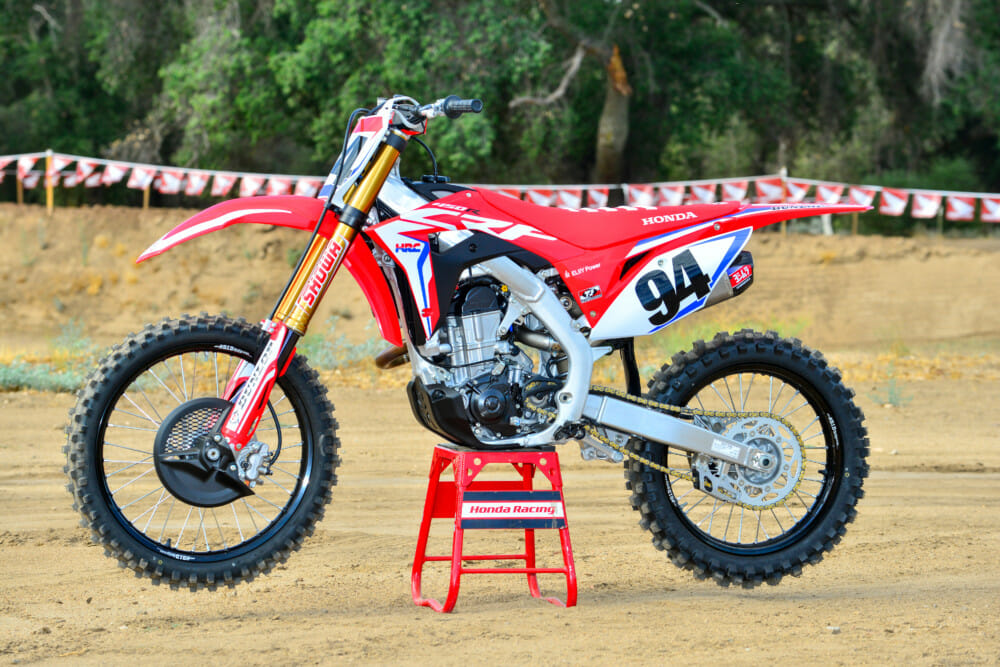 First test ride of the Honda CRF450RWE Works Edition.