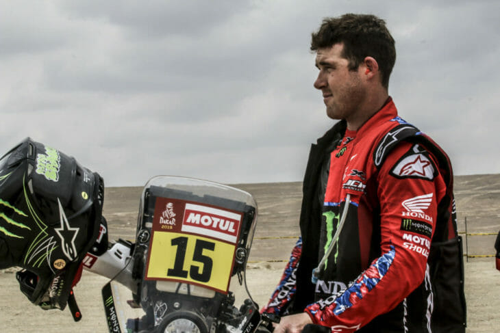 2019 Dakar Rally Ricky Brabec Monster Energy Honda