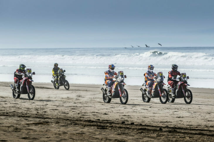 2019 Dakar Rally Stage 5 start Red Bull KTM