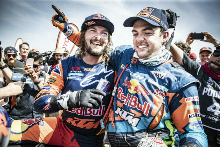 2019 Dakar Rally Toby Price Matthias Walkner Red Bull KTM Marcin Kin