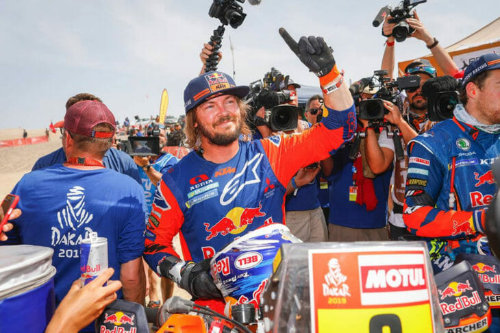 2019 Dakar Rally winner Toby Price Red Bull KTM DPPI photo
