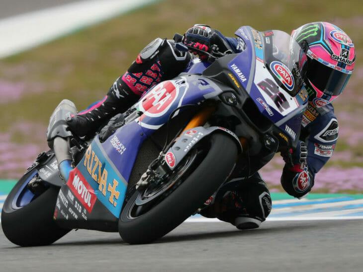 Alex Lowes topped world superbike testing at Jerez.