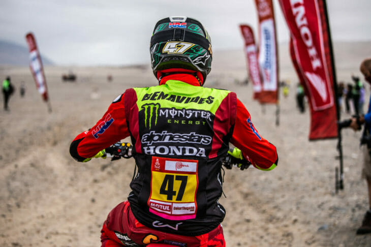 2019 Dakar Rally Kevin Benavides Monster Energy Honda