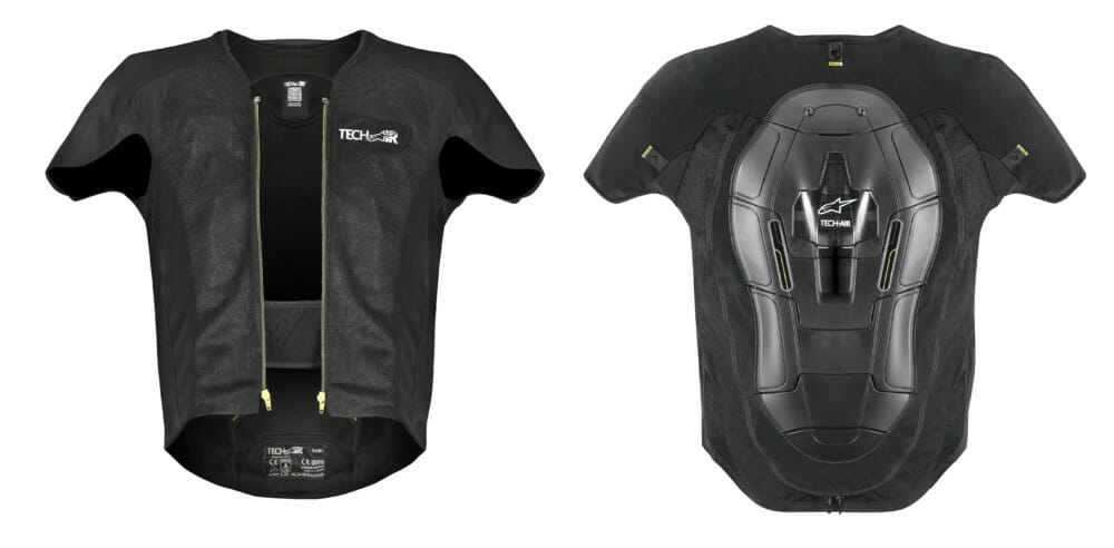 Alpinestars' Tech-Air is an electronic airbag system that offers riders upper-body protection.