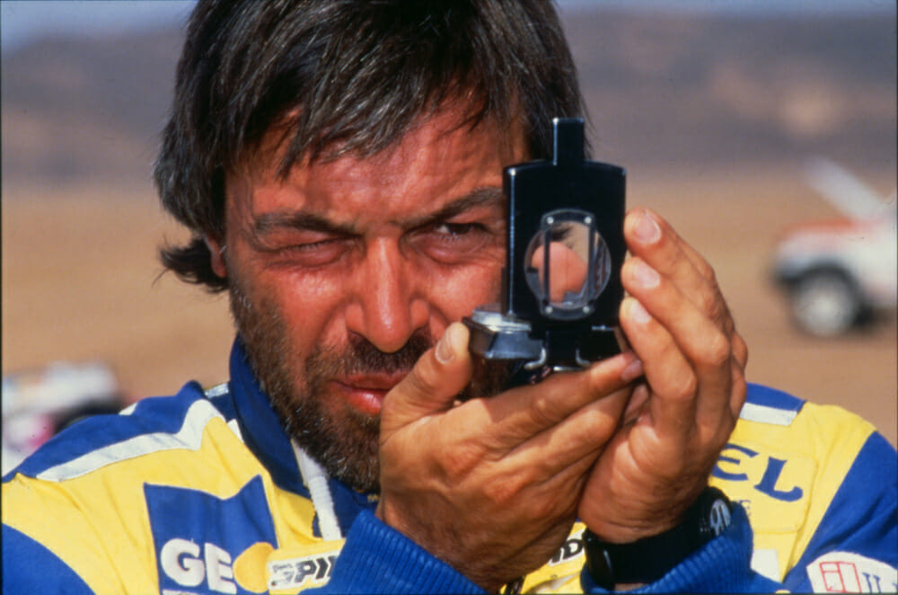 Beppe Gualini at Paris-Dakar, 1988.