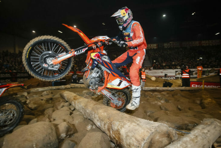 FMF KTM Factory Racing's Cody Webb has claimed victory at round two of the FIM SuperEnduro World Championship in Germany to take the series lead. Photo by Future7Media - KTM Media Library