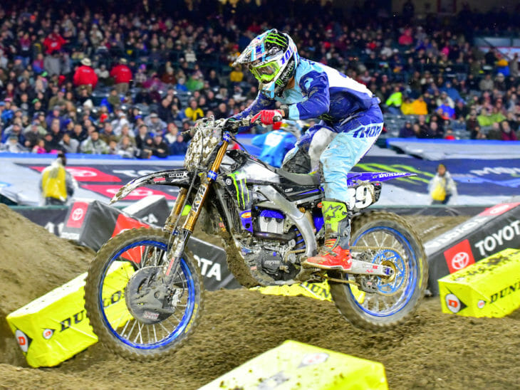 Colt Nichols won the 250SX class at Anaheim I Supercross.