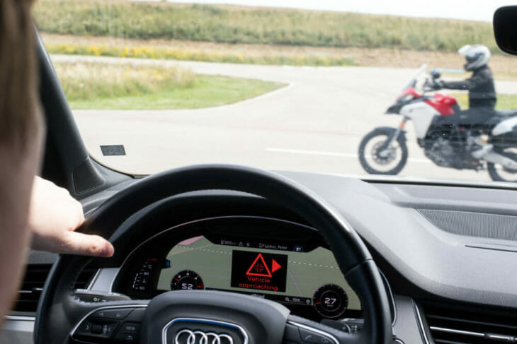Ducati car-to-bike technology