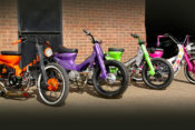 Little bikes make big laughs, as the UK custom Honda Cub scene proves in spades