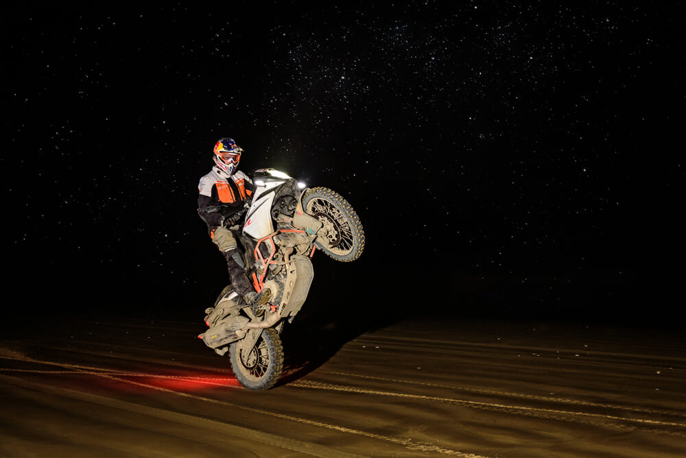 Riding at night at the KTM New Zealand Adventure Rallye