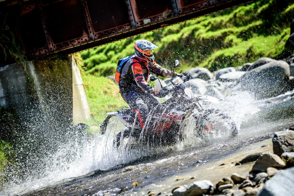 water crossing at KTM New Zealand Adventure Rallye