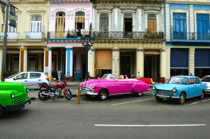 The two sides of Havana: classic American iron and cheap Chinese motorcycles.