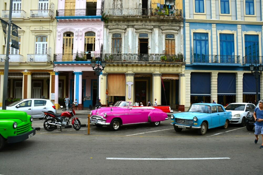 The who sides of Havana: classic American iron and cheap Chinese motorcycles.