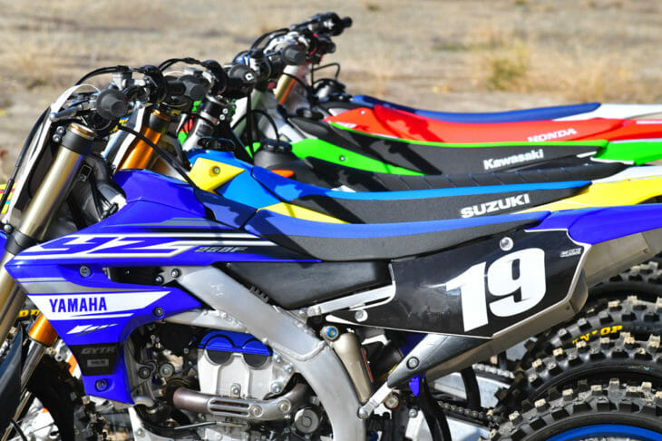 2019 Cycle News 250cc Four-Stroke Motocross Shootout: We ride and rate the latest crop of 250cc four-stroke motocrossers.