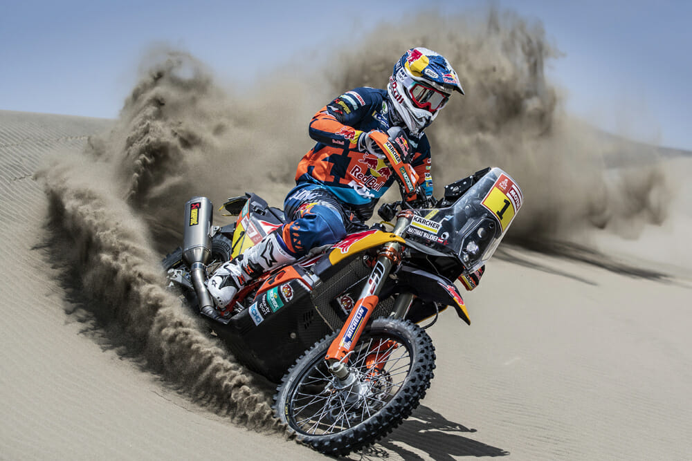 The Red Bull KTM Factory Racing team of Matthias Walkner, Toby Price, Sam Sunderland and Luciano Benavides have safely arrived in Peru to contest the 2019 Dakar Rally.