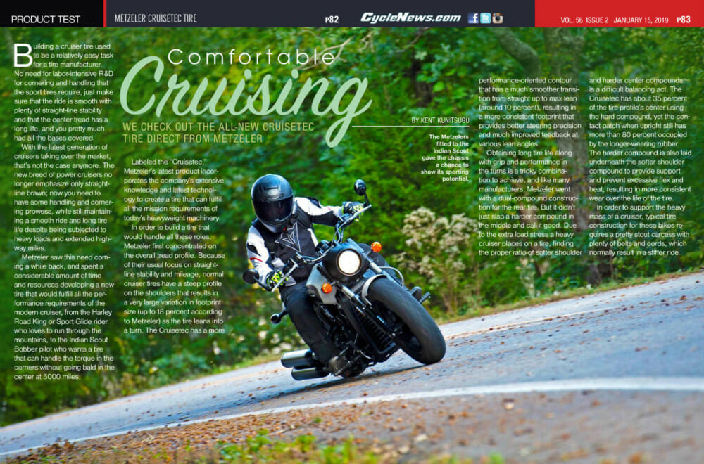 We check out the all-new Cruisetec tire direct from Metzeler.