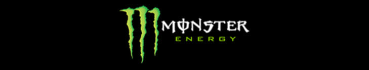 Monster Energy Powered By Logo for Cycle News Motorcycle TV Listings.