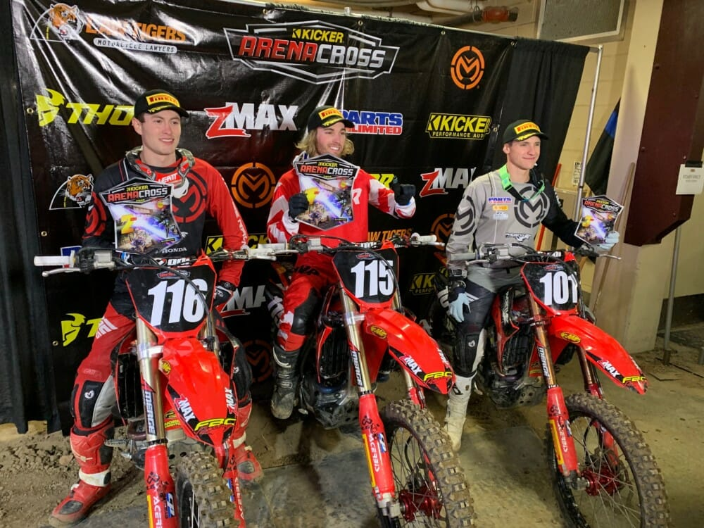 Pirelli Riders Dominate Opening Round of 2019 Kicker Arenacross Championship