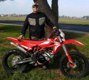 Quiet Warrior Racing's Don Amador with Beta 300 XTrainer