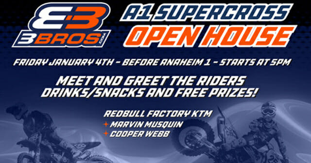 Three Brothers Racing in Orange County is having its annual open house on January 4.