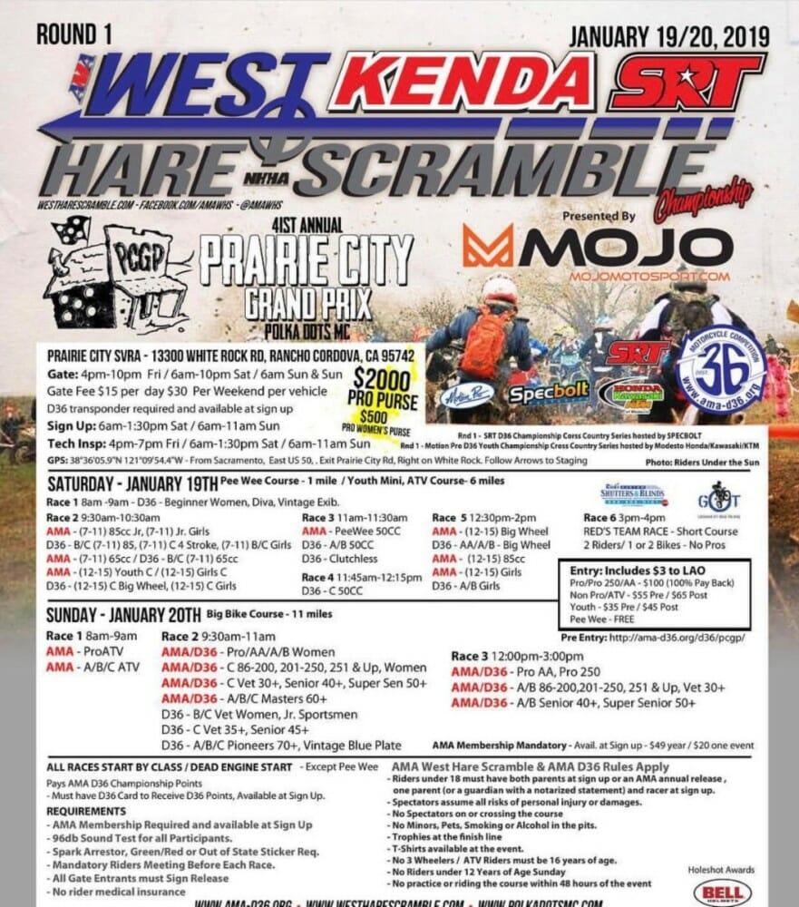AMA Kenda/SRT West Hare Scramble Series