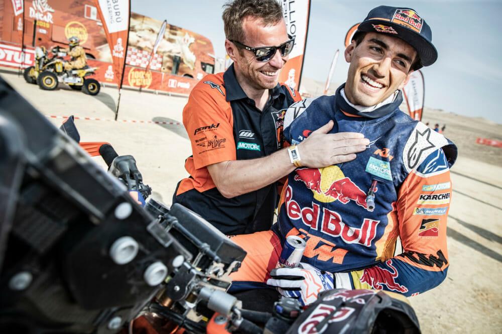 Luciano Benavides at 2019 Dakar Rally. Photo by Marcin Kin