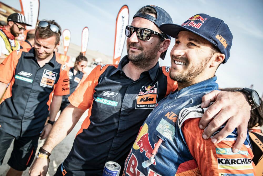 Sam Sunderland at 2019 Dakar Rally. Photo by Marcin Kin