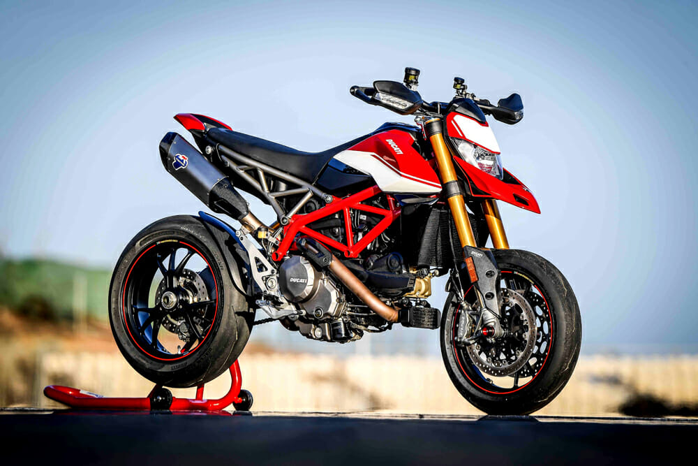 The 2019 Ducati Hypermotard is taller than previous ones.