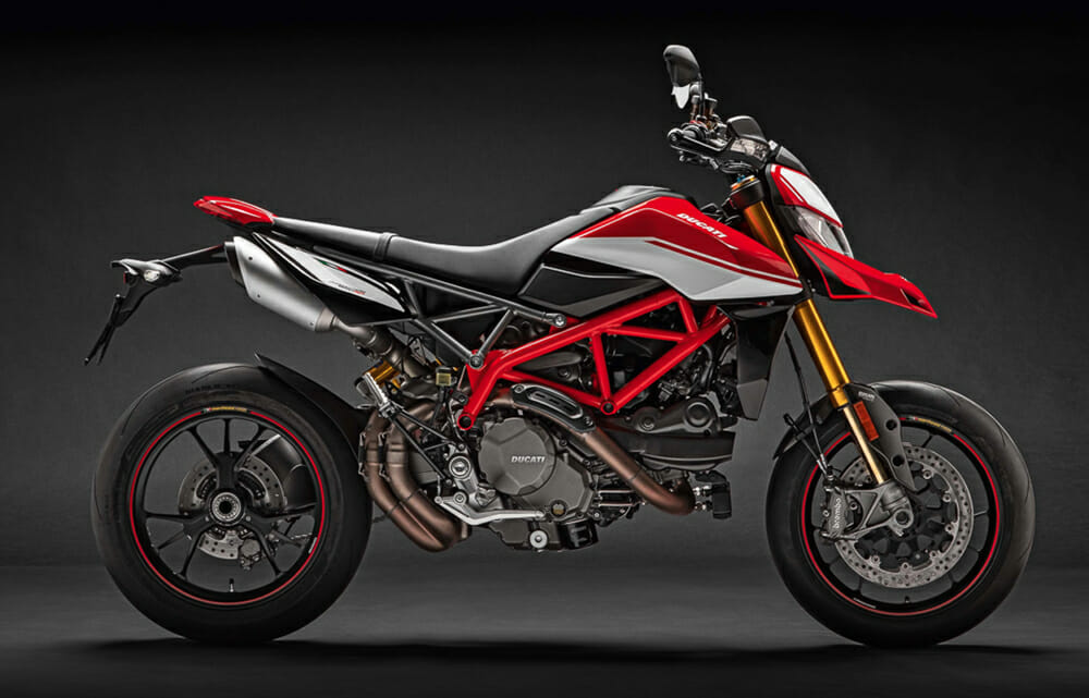 The 2019 Ducati Hypermotard 950 has an MSRP of $13,295.