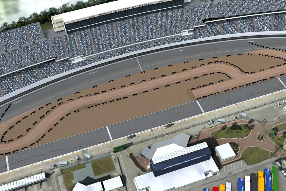 2019 Daytona TT race will use the start/finish straightaway of the Daytona International Speedway tri-oval as part of the racecourse.