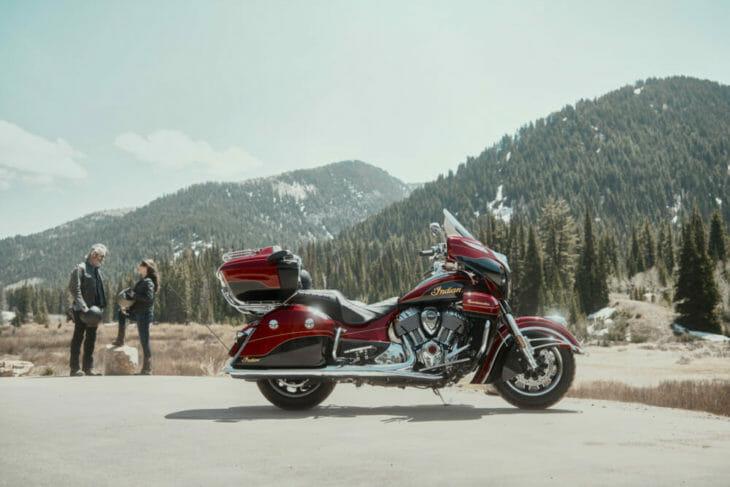 2019 Indian Roadmaster Elite canyon shot