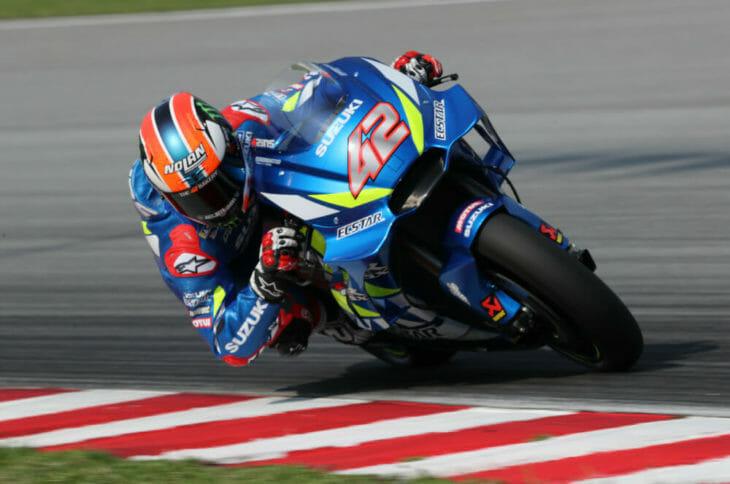 2019 MotoGP Test Results Suzuki rider Alex Rins on form.
