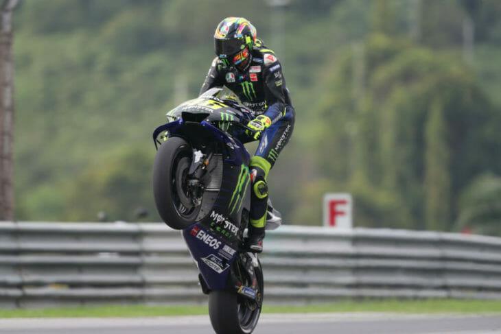 2019 MotoGP Test Results Yamaha Valentino Rossi wheelie