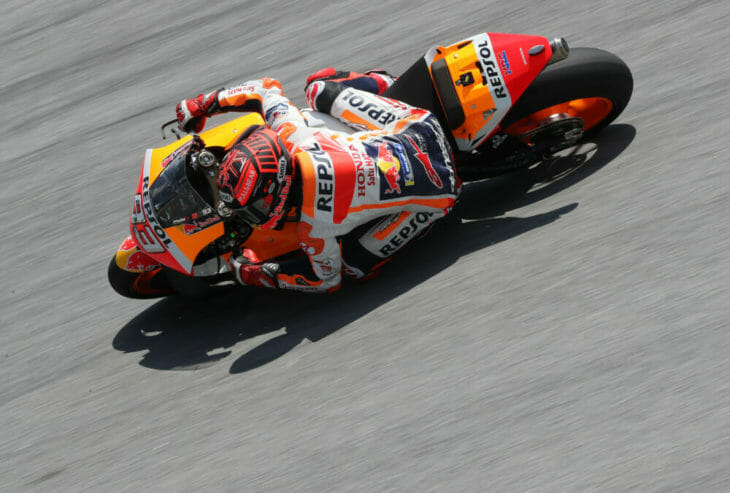 Marc Marques in action at the 2019 MotoGP Test Results Sepang Day One