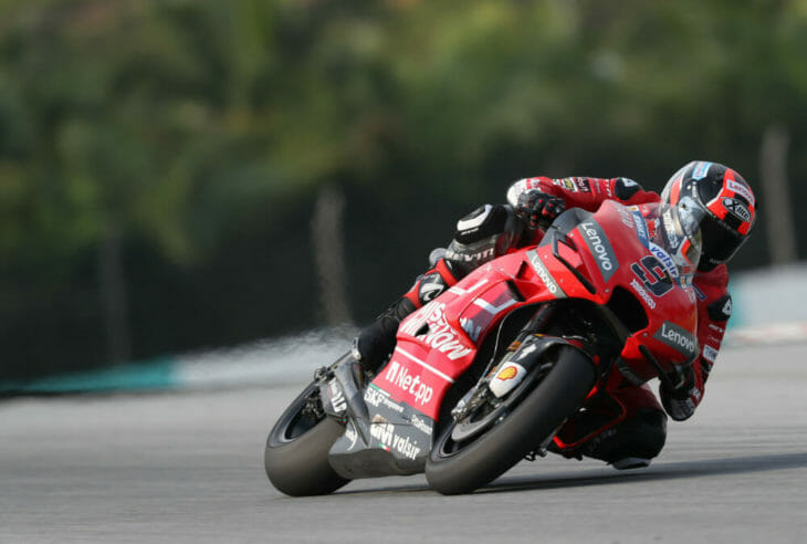 Danilo Petrucci in action at the 2019 MotoGP Test Results Sepang Day One