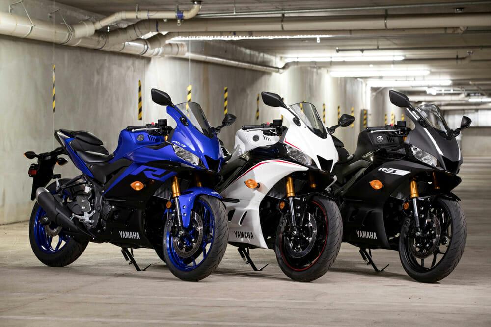 Color choices for the 2019 Yamaha YZF-R3