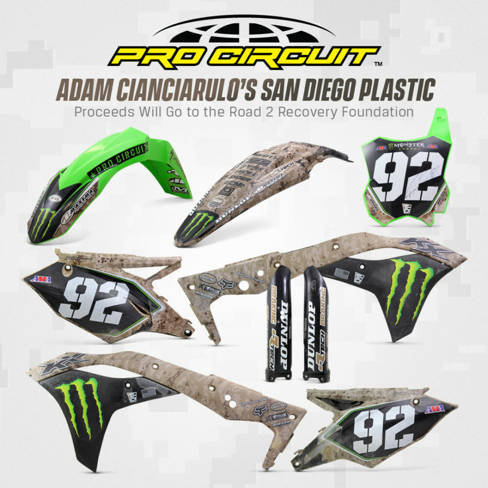 Monster Energy Pro Circuit Kawasaki Race-Winning Plastic from San Diego up for Auction