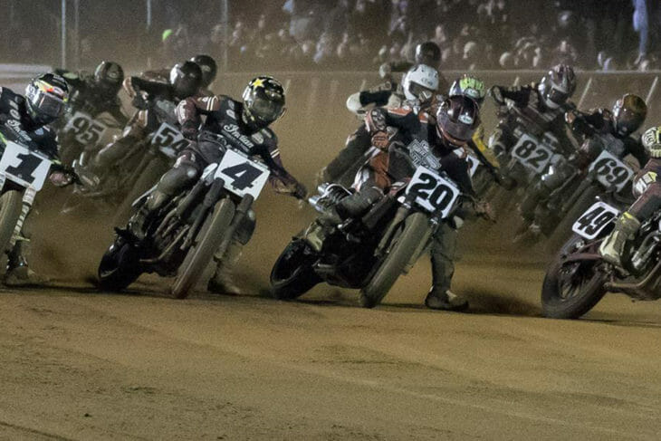 American Flat Track announced today its NBCSN broadcast schedule for its 2019 season Photo Credit: Scott Hunter/American Flat Track