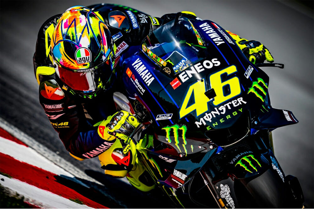 Valentino Rossi Presents the Pista GP R 2019 Winter Test Helmet