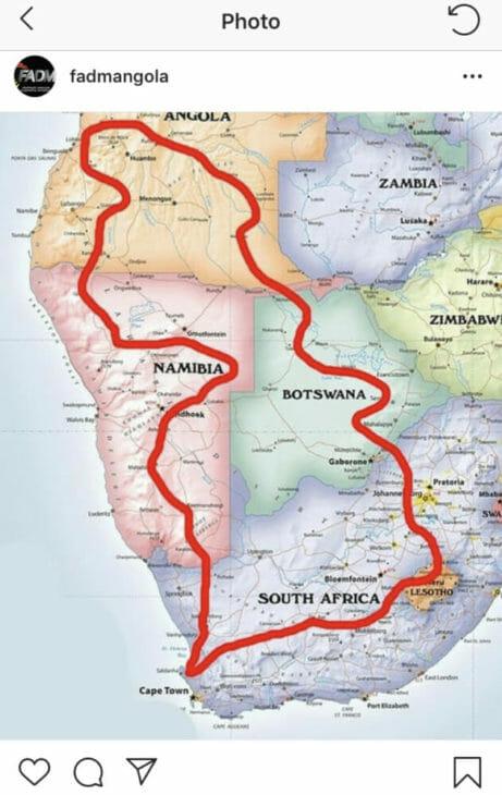 Dakar Rally to Saudi Arabia Angola South Africa map