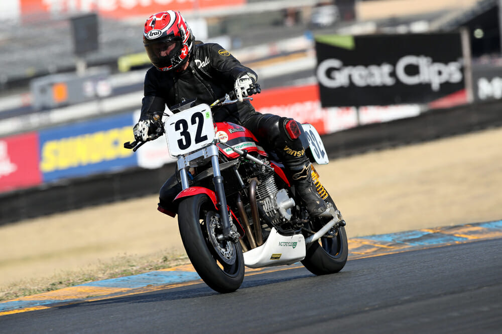 Former AMA Superbike regular, Dale Quarterly, was triumphant on the Kawasaki.