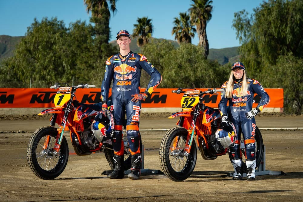 Red Bull KTM Launched its Factory Flat Track Effort today in Perris, California