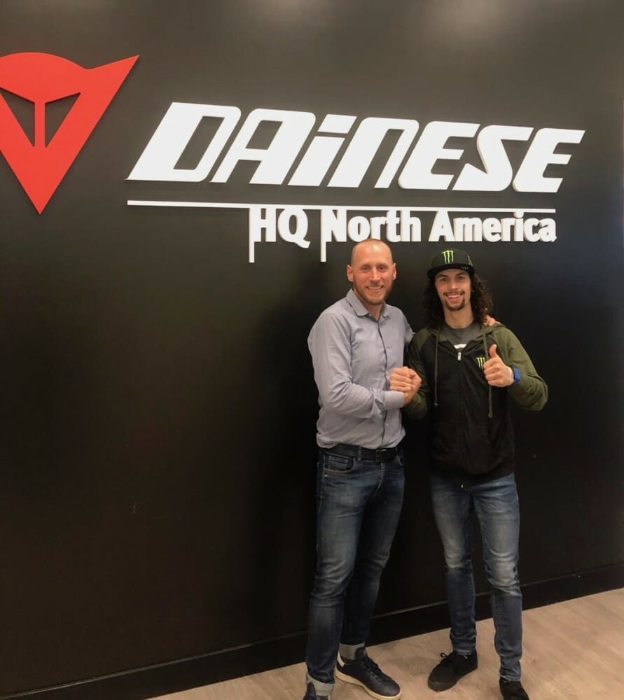 JD Beach will race in Dainese gear for championships in both premier classes of MotoAmerica and American Flat Track for the 2019 season.